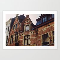 brussels Art Prints featuring Brussels by monography