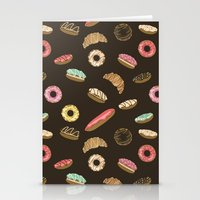 donuts Stationery Cards featuring Donuts by Julia Badeeva