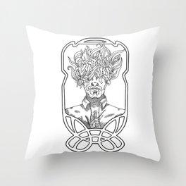 He. Art Nouveau. Throw Pillow