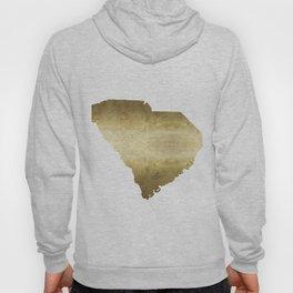 south carolina gold foil state map Hoody
