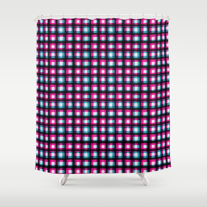 Upbeat SK8ter Chess Pattern V.03 Shower Curtain