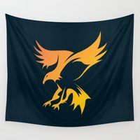 phoenix Wall Tapestries featuring Phoenix by Dale J Cheetham