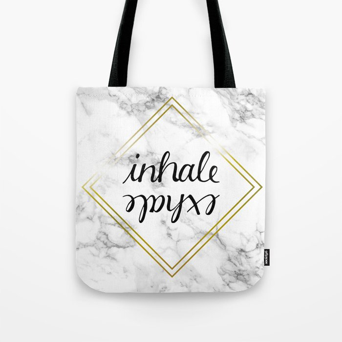Inhale Exhale Tote Bag