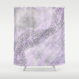 Shades of Pink and Gray Shower Curtain
