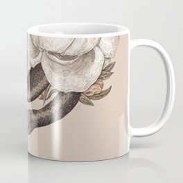 Snake and Peonies Coffee Mug