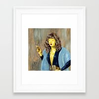 cheese Framed Art Prints featuring Cheese by FAMOUS WHEN DEAD