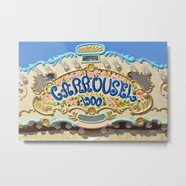 Nostalgic Carrousel Metal Print