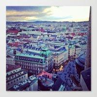 vienna Canvas Prints featuring Vienna by SandraHuezo