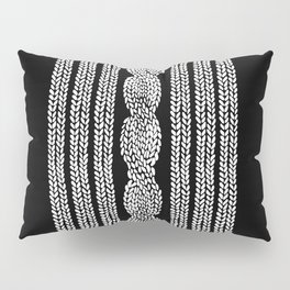 Cable Stripe Black Pillow Sham