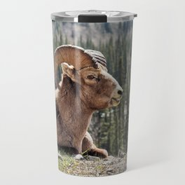Smiling Bighorn Mountain Sheep Travel Mug