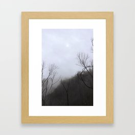 Gloomy Moon Framed Art Print