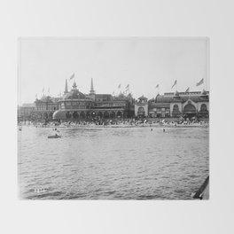 Santa Cruz Beach Boardwalk 1911 Throw Blanket