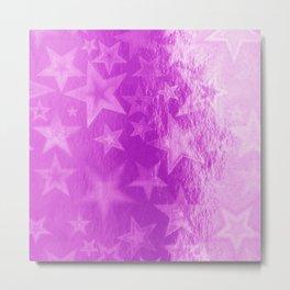 Cerise Pink Fuschia Starshine Metal Print