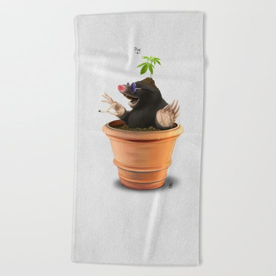 Pot Beach Towel