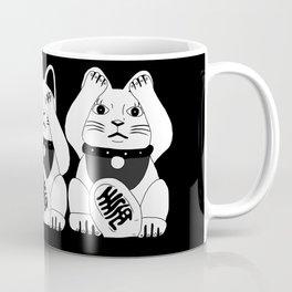 Three Smart Cats Coffee Mug