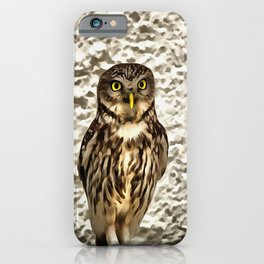 Small Owl In Camouflage iPhone Case