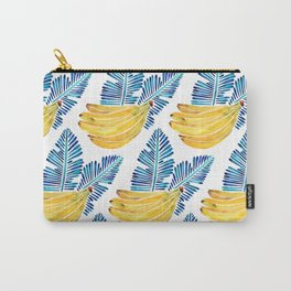 Banana Bunch – Navy Leaves Carry-All Pouch