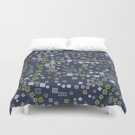 Rectangles scattered on midnight blue Duvet Cover