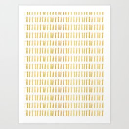 Luxe Gold Light a Candle Pattern, Hand Drawn Seamless Vector Illustration Art Print