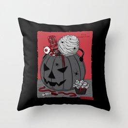 Сreepy candy Throw Pillow
