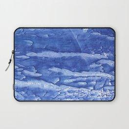 Steel blue vague watercolor painting Laptop Sleeve