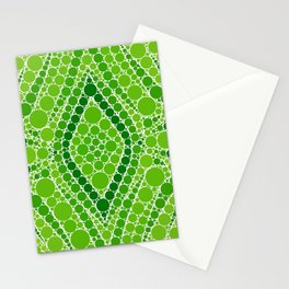 supreme 2 - bright green abstract - dots Stationery Cards