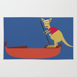 Kangaroo on Gondola Rug