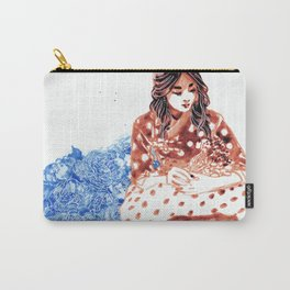 Flowers and Hanbok Carry-All Pouch