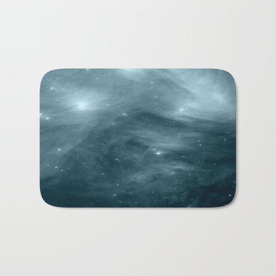Galaxy : Pleiades Star Cluster NeBula Steel Blue Bath Mat