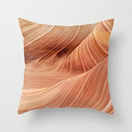 The Waves of the Coyote Buttes Throw Pillow