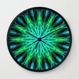 Mandala - Green Implosion Wall Clock