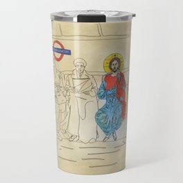 Jesus on the Tube, He is among us Travel Mug