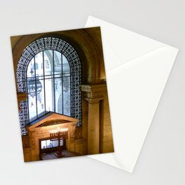 Menorah lit at the New York Public Library, New York City, New York Stationery Cards