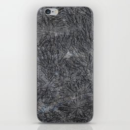 Black Cement and Grass iPhone Skin