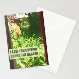 Retro Rose Garden. LDR Big Eyes Stationery Cards