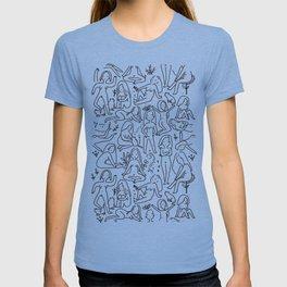 Doodle naked woman T-shirt