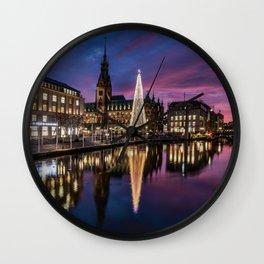 Hamburg Christmas Market Wall Clock