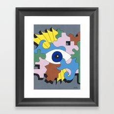 Patterned Eyes | The Left Eye 1/2 Framed Art Print