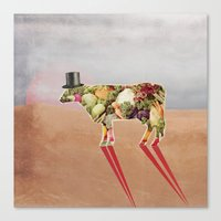 cow Canvas Prints featuring Cow by Oleg Borodin