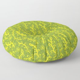 sprouting plants pattern Floor Pillow