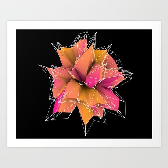 3d polygons  Art Print