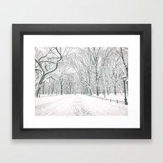 New York City Snow Framed Art Print