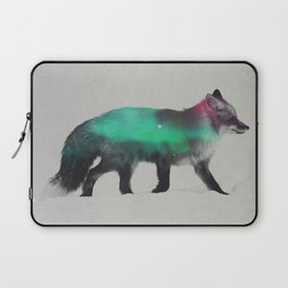 Fox In The Aurora Borealis Laptop Sleeve