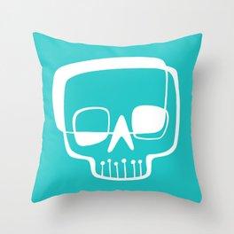 Mid-Mod Skull Throw Pillow