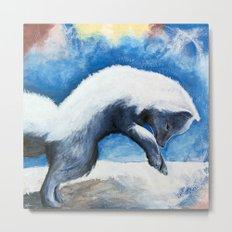 Animal - Antoine the Artic Fox - by LiliFlore Metal Print