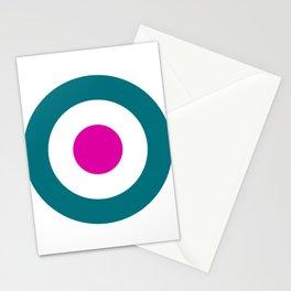 Retro Cyan Target - Mod Stationery Cards