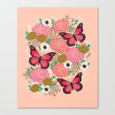 Monarch Florals by Andrea Lauren  Canvas Print