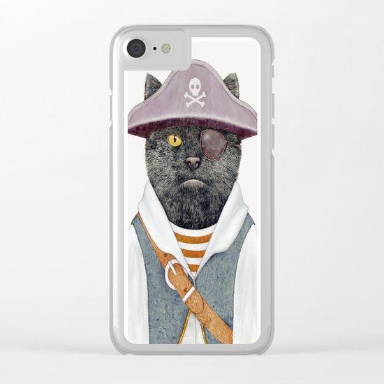 Pirate Cat Clear iPhone Case