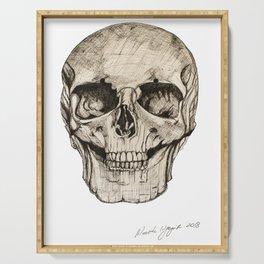 Human Skull En Face Serving Tray