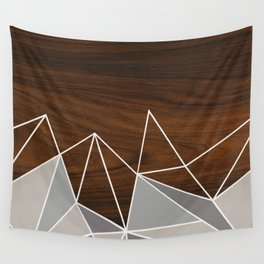 Facet in Grey Wall Tapestry
